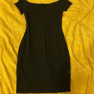 Express Black Off the Shoulder Body Con Dress